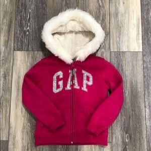 Gap Bright Pink Cozy Girls Hoodie-size 5y